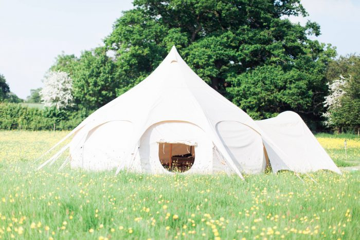 lotus bell tent wedding