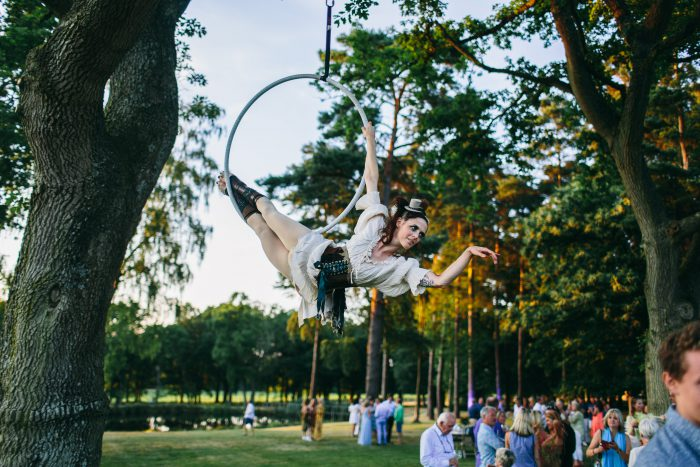 aerial performer private party