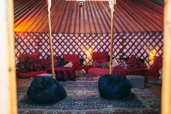 Mongolian yurt interior
