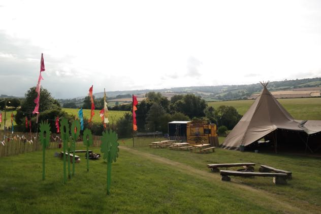 Mini festival with tipi