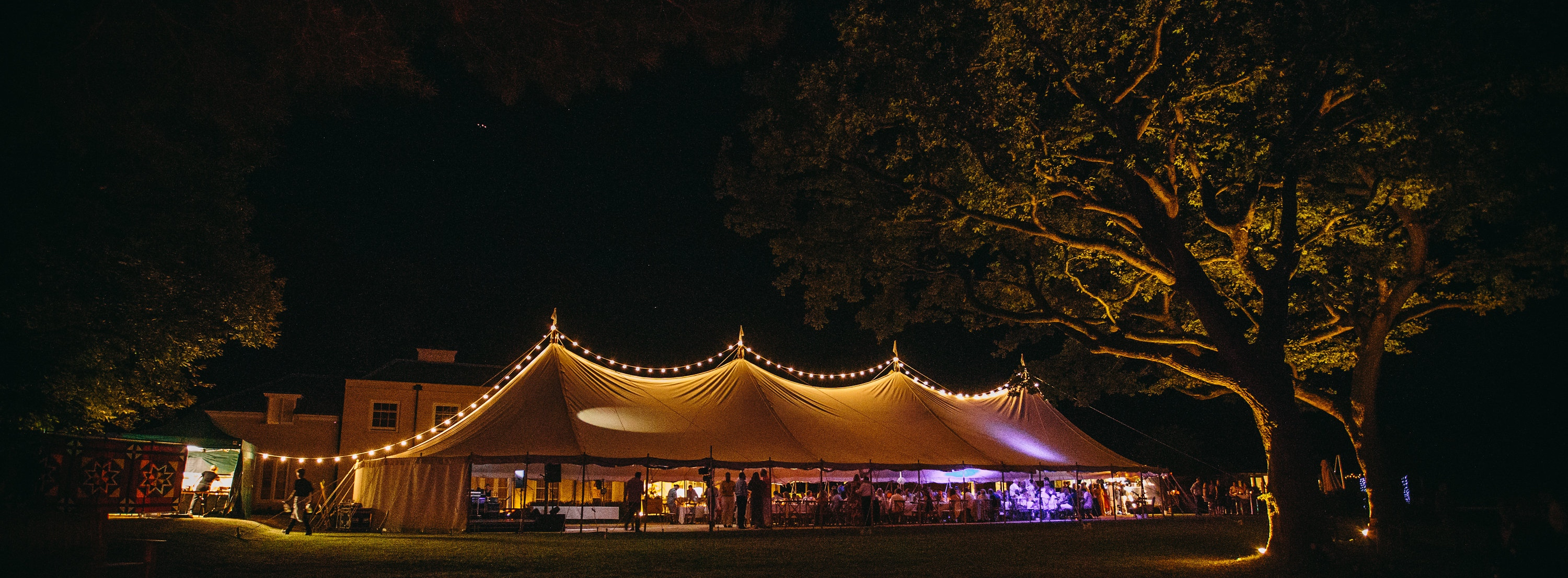 Traditional tent wedding