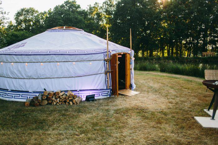 Lakeside mongolian yurt
