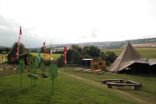 Mini festival with tipi