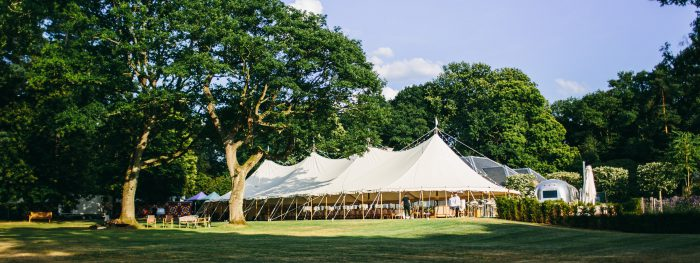 Marquee on lawn
